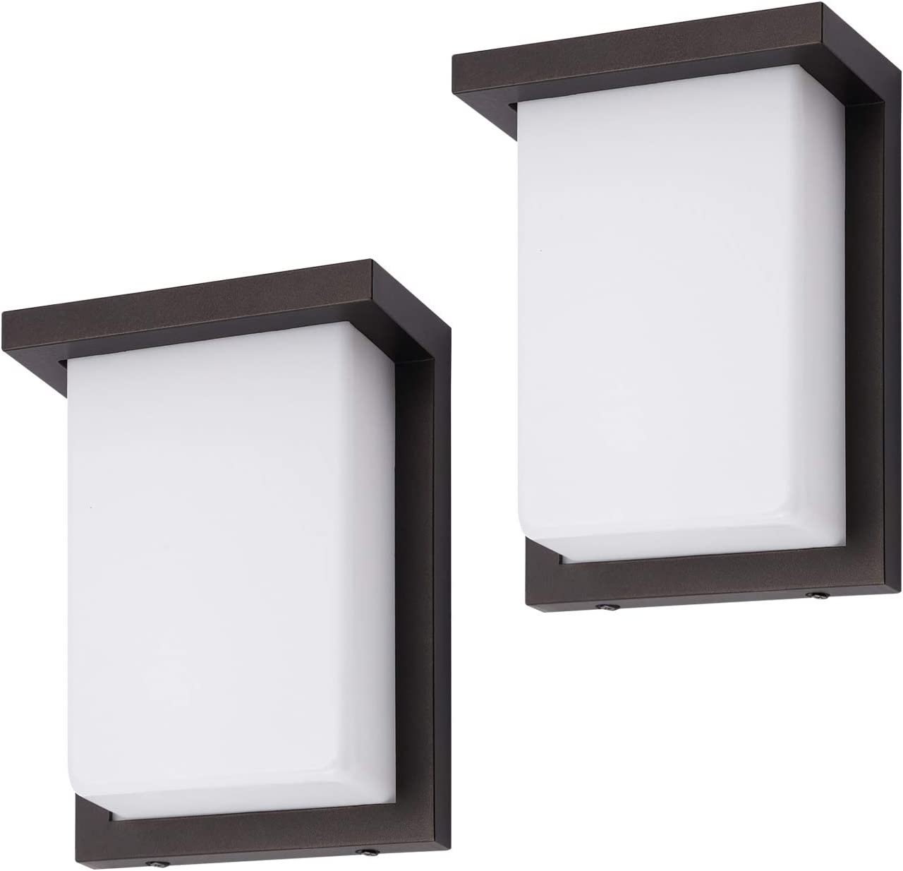 OSTWIN 2 Pack 8 Inch LED Outdoor Wall Sconce Lighting Exterior Wall Light Fixture Non-Dimmable 12W 60 Watt Repl