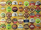 Crazy Cups Holiday Gift Sampler Pack, Single-Cup Coffee Pack Sampler for Keurig K-Cup Brewers, 35-Count