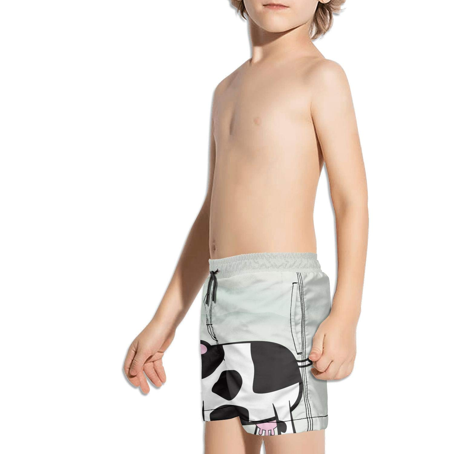 Landayboys Boys Summer Swim Trunks Beach Shorts Cassette Skull Quick Dry Swim Trunks