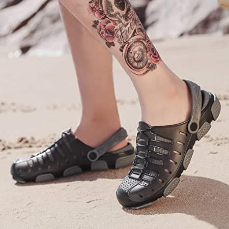 Fannyfuny_Zapatos Hombres Zuecos Hombre Zuecos para Unisexo Zapatillas de Trabajo Zapatos Mujeres Sandalias Verano Zuecos Hombre Playa Piscina Sanitarios Sandalias 40-45