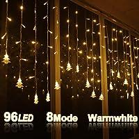 Pertop Cortina de Luces, 8 Modos, 96 LEDS