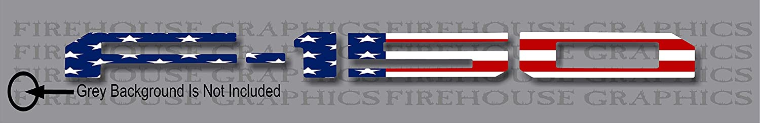 Firehouse Graphics American Flag Vinyl Decal Letter Inlays Inserts 2018 2019 F-150 Tailgate Reflective