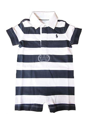 86b7ed79f6 Polo Ralph Lauren Baby Boy Shortall Bodysuit