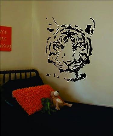Tiger Face Decal Sticker Wall Vinyl Art Animal Part 56