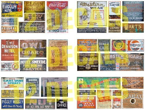Used, HO Scale Ghost Sign Decals 8.5 x 11 MEGA SHEET #1 for sale  Delivered anywhere in USA