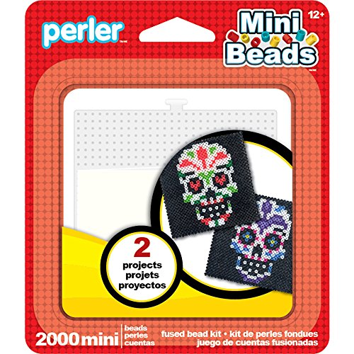 Perler Mini Beads Sugar Skull Halloween Craft Activity Kit, 2002 pcs]()