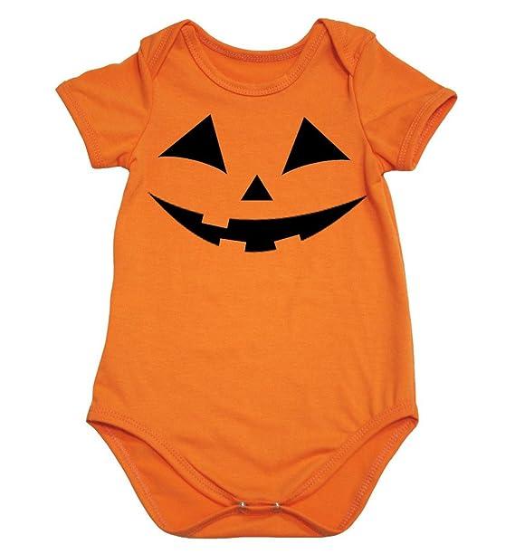 Petitebelle Halloween calabaza cara naranja algodón body de Pelele para bebé nb-18 m: Amazon.es: Ropa y accesorios
