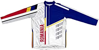 ScudoPro Romania Maglie da Ciclismo à Maniche Lunghe per Uomo