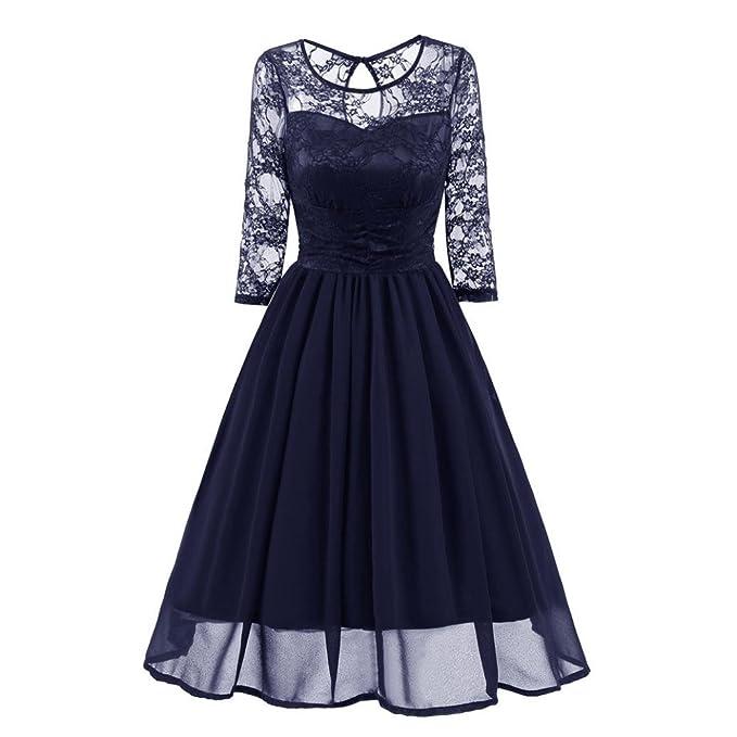 Vestido de mujer , ❤ Manadlian 2018 Vestido de cóctel de encaje vintage casual de
