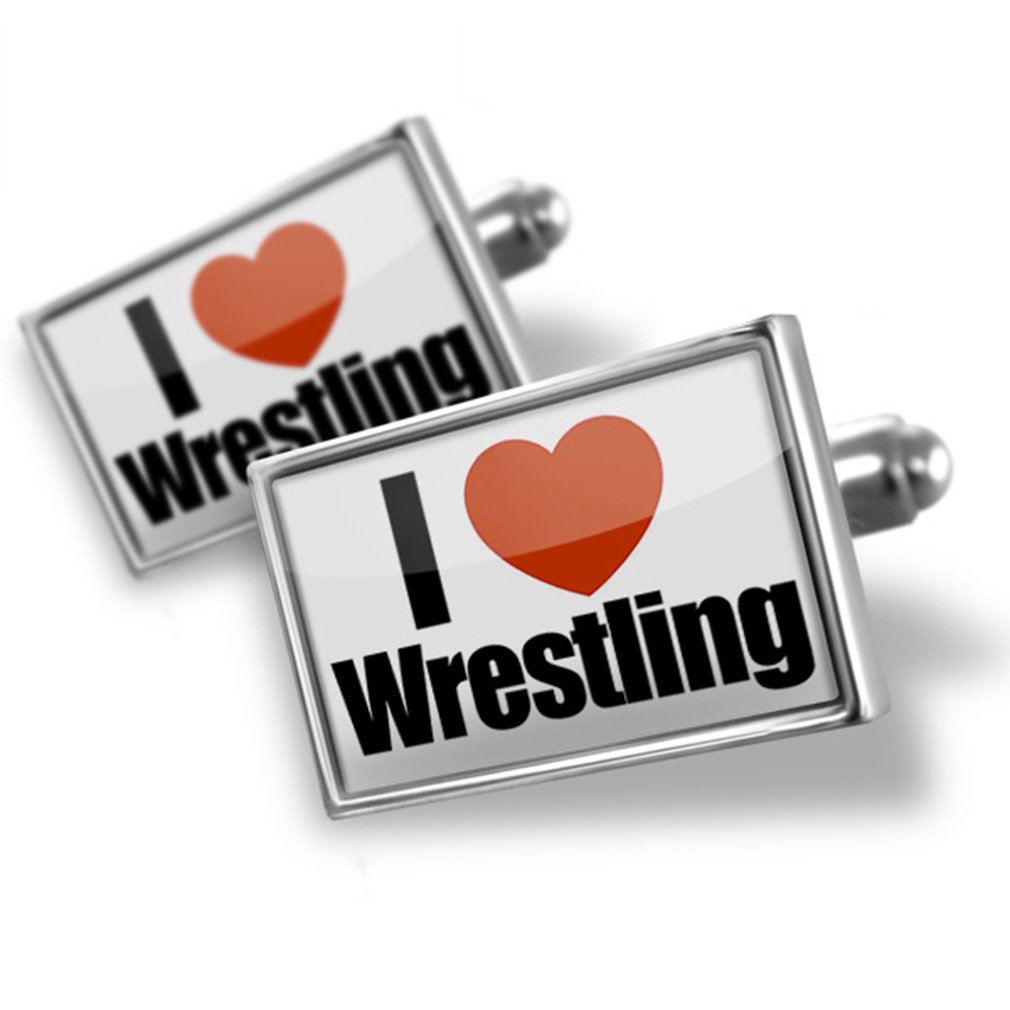 Cufflinks I Love Wrestling - Neonblond