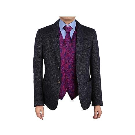 6e4f270431cb Epoint EGD1B01D-XL Purple Blue Patterns Microfiber Christmas Tuxedo Vest  Neck Tie Set Shopstyle Gift: Amazon.ca: Luggage & Bags