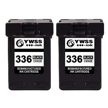 YWSS Remanufacturado Cartucho de Tinta para HP 336 HP336 Alto Rendimiento Cartucho de Tinta (2 Negro) C9362E para HP Photosmart 2713 2710 2575 C3180 ...