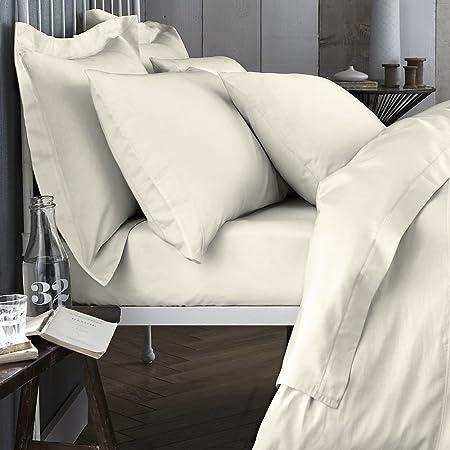 Bianca 200 Hilos sábana Bajera, algodón, Cream, King, algodón, Cotton, Sábana Bajera Ajustable para Cama King: Amazon.es: Hogar