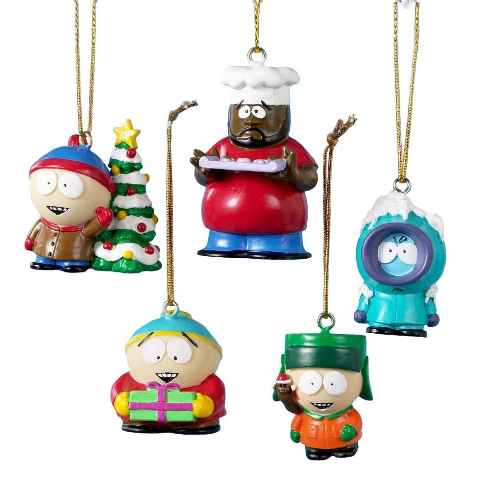 Amazon.com: South Park Kurt Adler 5-Piece Resin Miniature Ornament ...