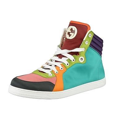 4111e409059459 Amazon.com: Gucci Men's Multi-Color Hi Top Sneakers Shoes US 12.5 IT ...