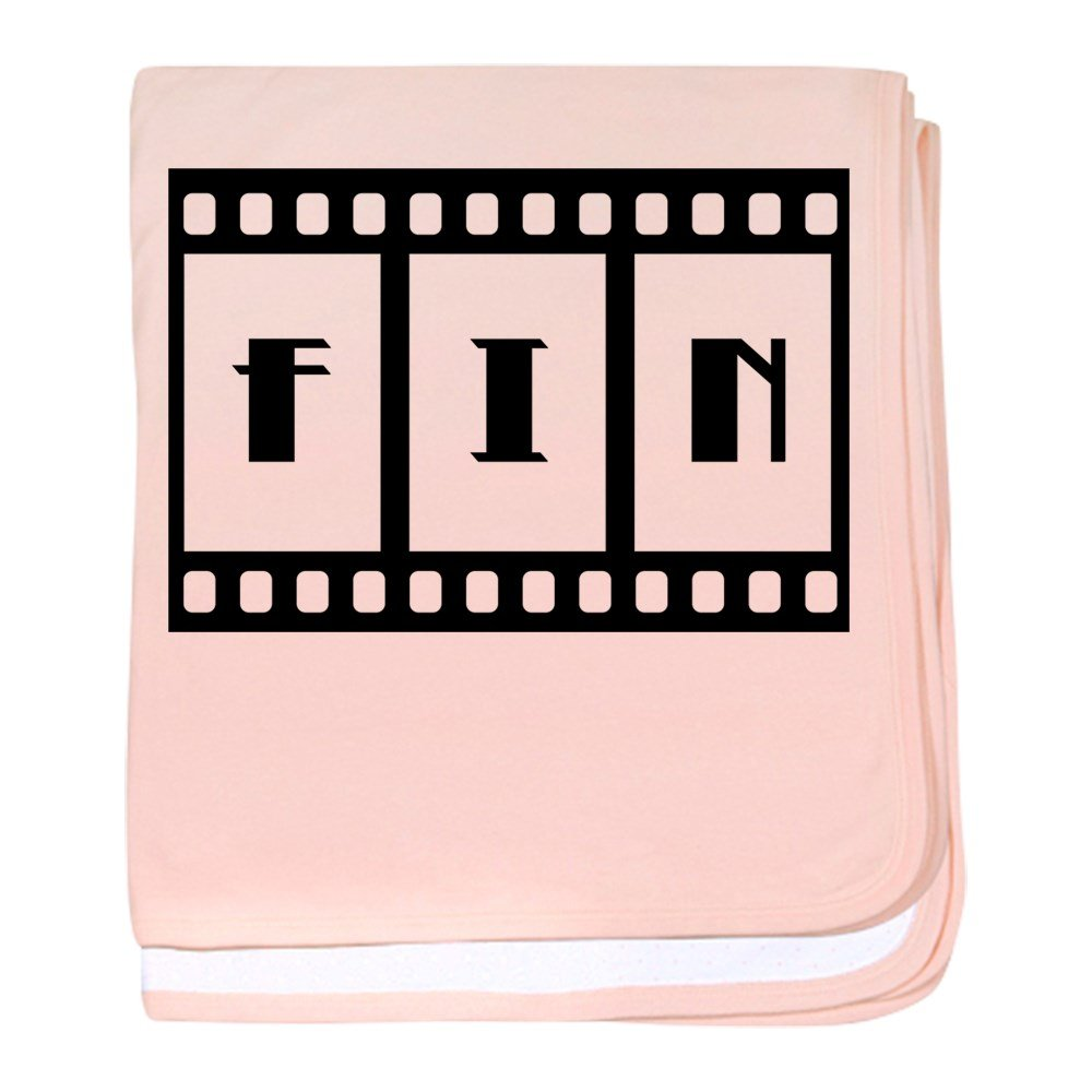 Truly Teague Baby Blanket Fin: Old Hollywood Movie Ending - Petal Pink