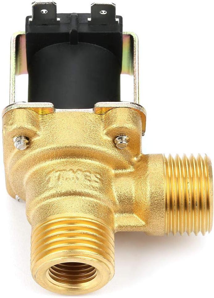 Famus Brass DC24V G1 / 2 Válvula de solenoide eléctrica de Entrada de Agua Cerrada y operada por piloto Normal