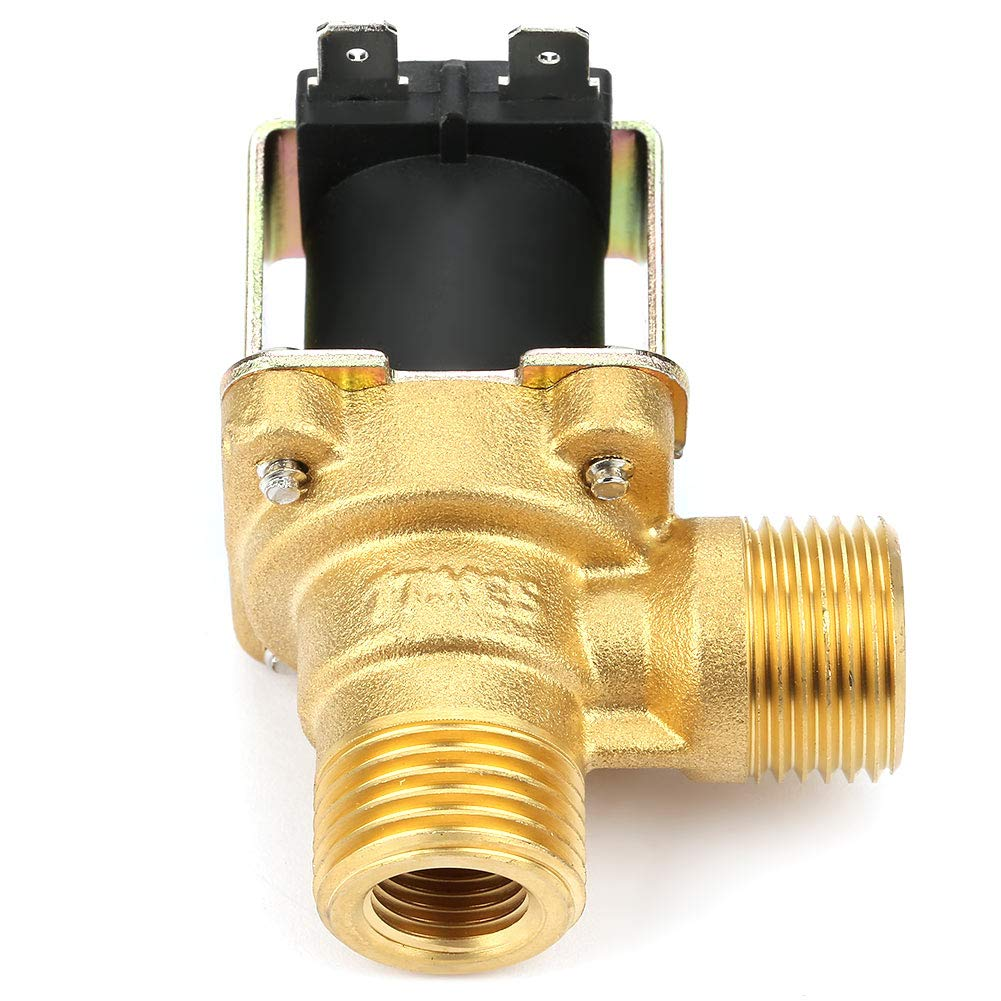 NC Solenoid Valve Electric Valve Brass Solenoid Valve Electric Magnetic Valve Water Inlet Electric Solenoid Valve for Home Pipelines