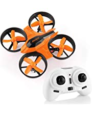 HELIFAR F36 Mini Drone Remote Control Quadcopter Drone for Kids and Beginners 2.4G 4CH 6-Axis Gyro Headless Mode One Key Return Small RC Drone (Orange)