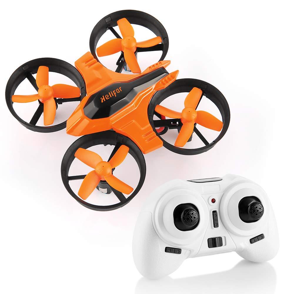 Mini Quadcopter Drone, F36 Mini RC Drone 2.4G 4CH 6Axis Gyro Remote Control Nano Drone RTF for Kids Adults Beginners - Headless Mode, 3D Flip, One Key Return by HELIFAR