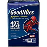 Huggies Goodnights Bedtime Pants for Boys, Size X-Small, 15 Count