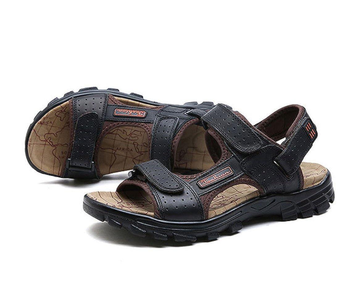 LEDLFIE Sandale Sommer-Klettverschluss Sandale LEDLFIE Sandaletten Für Männer schwarz b6b61b