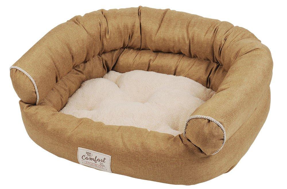 Happy Tails sintética Lino sofá Cama para Mascotas, 36 por (61 cm), Color Caqui: Amazon.es: Productos para mascotas