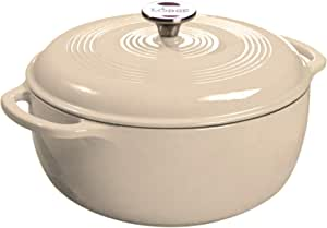 Lodge Enameled Dutch Oven, 6 Qt, Sandalwood