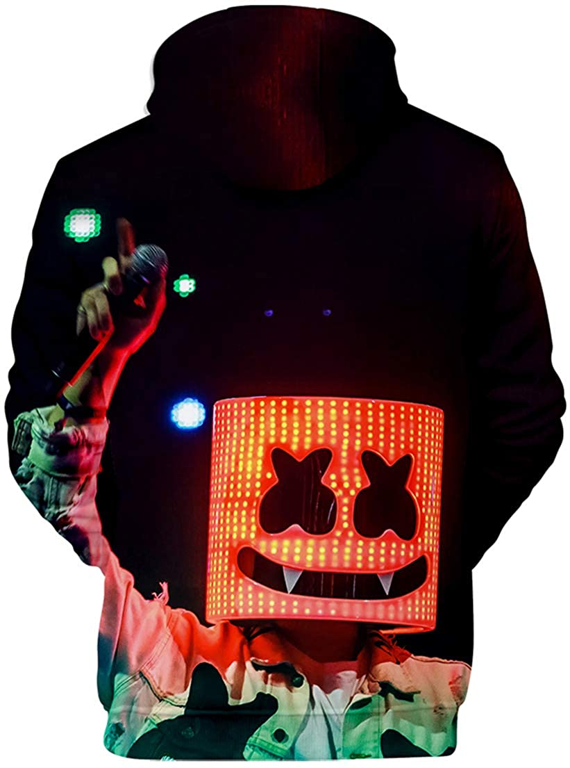 OLIPHEE Sudaderas Primavera con 3D Impresi/ón de DJ Marshmello para Ni/ña
