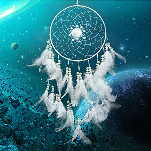 White Feathers Dream Catcher wall decorations