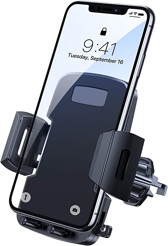 uxcell Car Auto Air Vent Mounted Drink Cup Cell Phone MP4 Bottle Holder Black