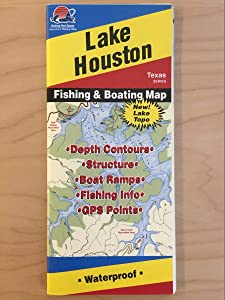 Lake Houston Fishing & Boating Map (A440) Texas Series
