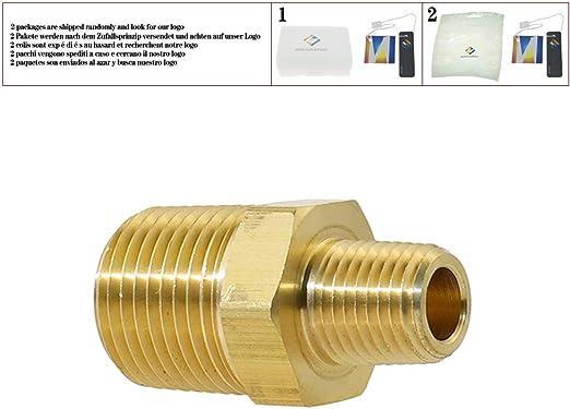 uxcell Lot de 4 raccords de tuyau en laiton /à filetage r/éduit Hex 1//2 x 3//4 G m/âle en laiton dor/é