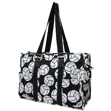 26dea23485d2 Vollyball Print NGIL Large Travel Caddy Organizer Tote Bag