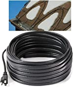 H&G lifestyles Roof Snow De-Icing Kit Self-Regulating-Plug-in Ready Heat Cable 80