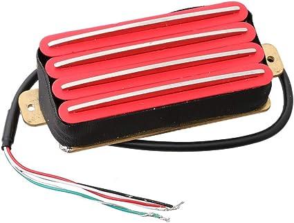 LYWS Quad Hot Rail 4 Blade Humbucker - Pastilla para guitarra Stratocaster/ Telecaster/Les Paul: Amazon.es: Instrumentos musicales