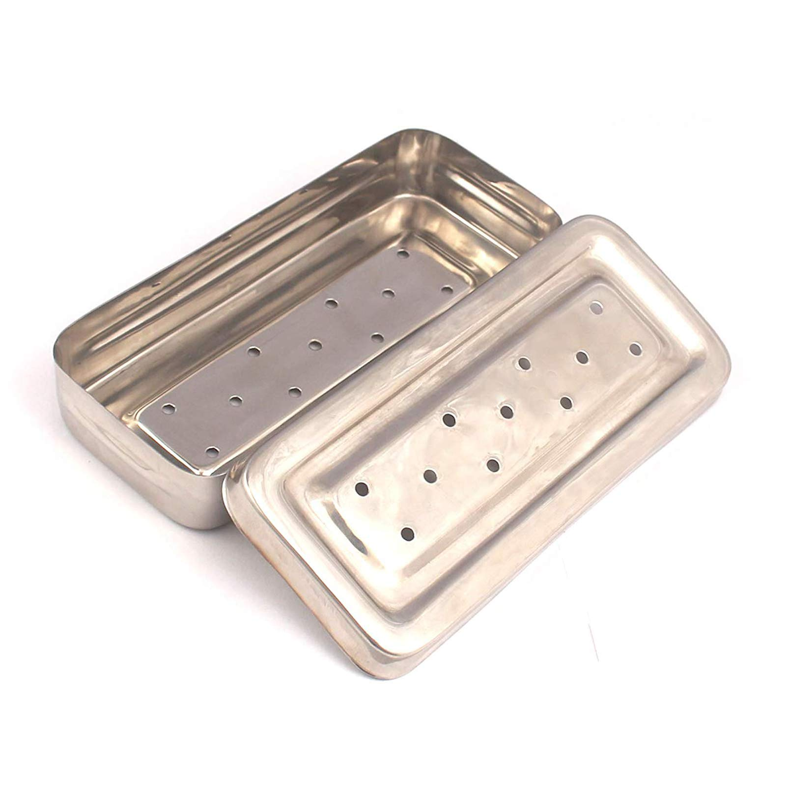 DDP 17x7x3 cm Instruments Box Perforated Stainless Steel Holloware Tray Box by DDP