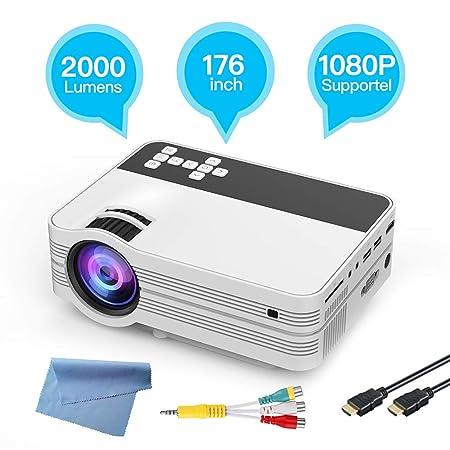 XHY Mini proyector portátil, proyector de vídeo, Soporte 1080P ...
