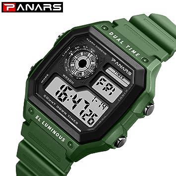 Msxx Smartwatch Watch Relojes Inteligentes Reloj Sumergible Running Pulsera Deportivo Digital Regalos Deporte Hombre,Green: Amazon.es: Deportes y aire libre