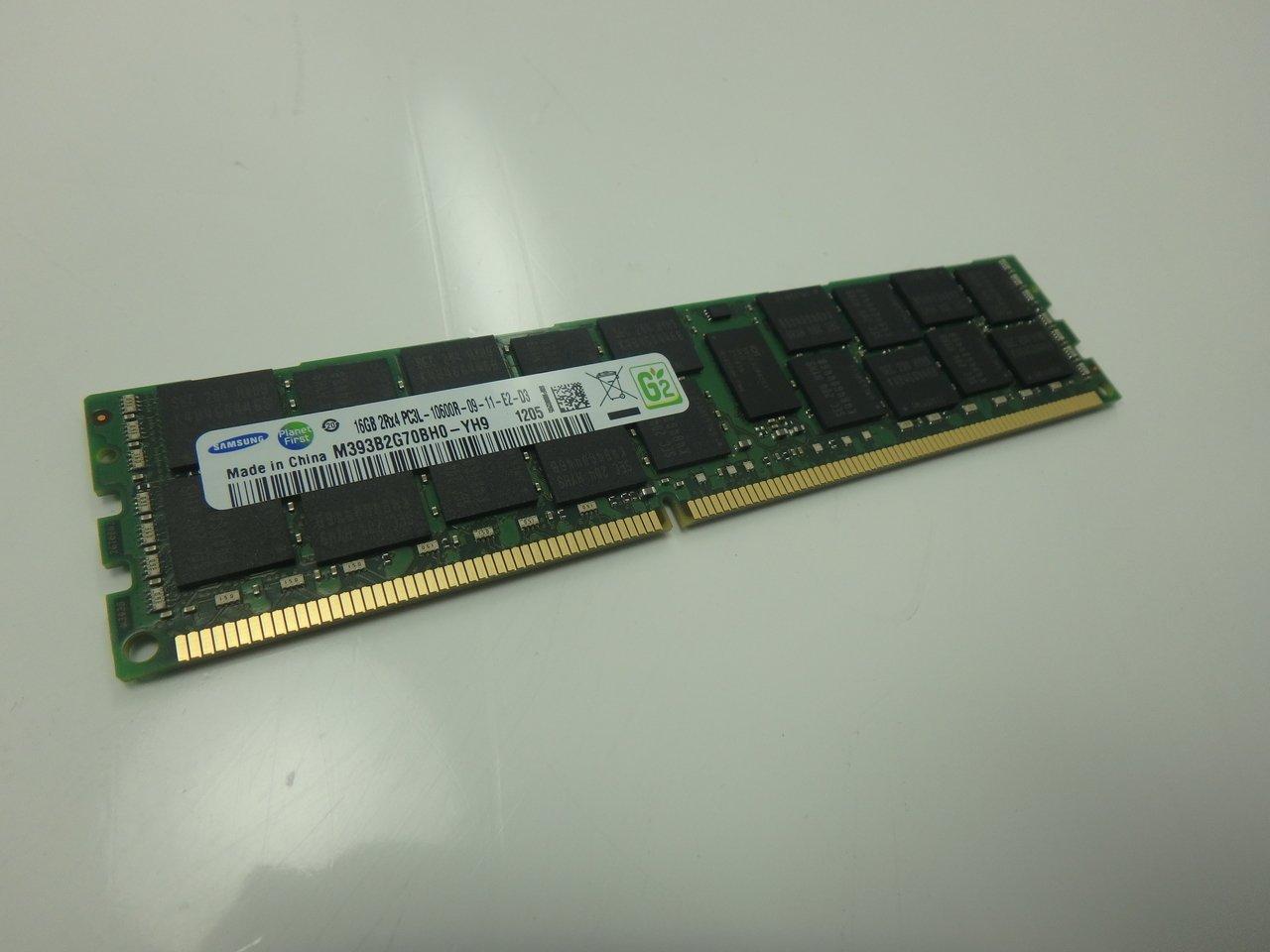 SAMSUNG 16GB PC3-12800R REG ECC DDR3-1600 MEMORY MODULE M393B2G70BH0-YK0