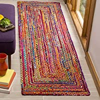 Safavieh Cape Cod Collection CAP202A Handmade Red and Multicolored Jute Runner (23 x 8)