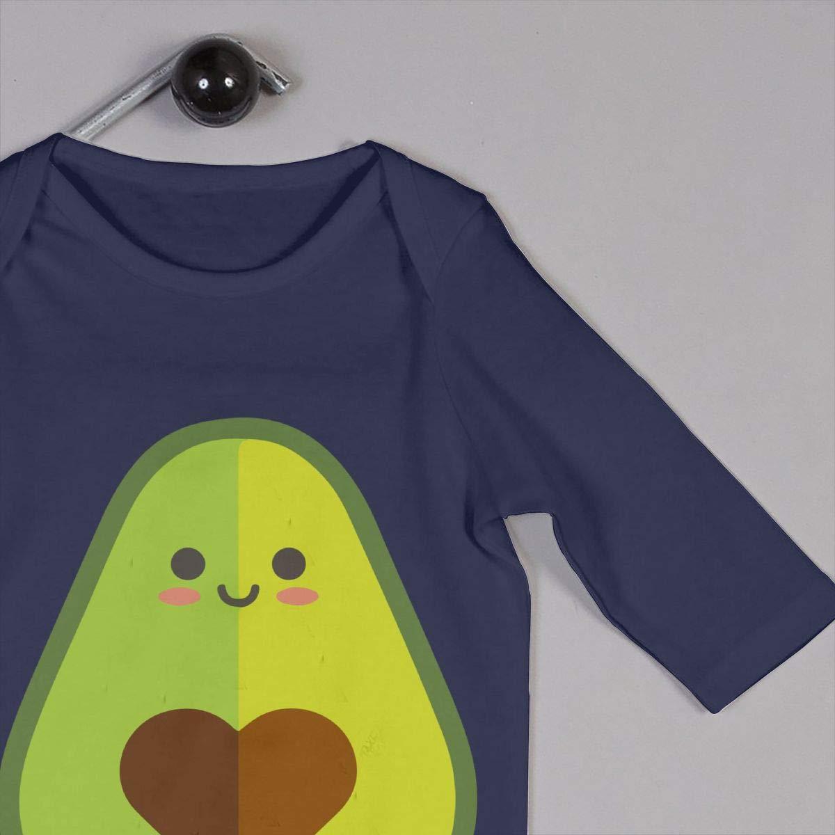 Db84UR@5p Infant Baby Girls Boys Long Sleeve Suit Little Avocado Lover Cotton Sleepwear