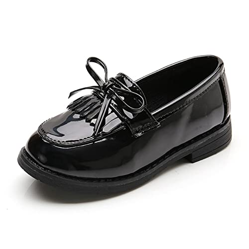 Amazon F Oxmy Girls Bowknot Tassel Loafer Shoes Shiny Ballet
