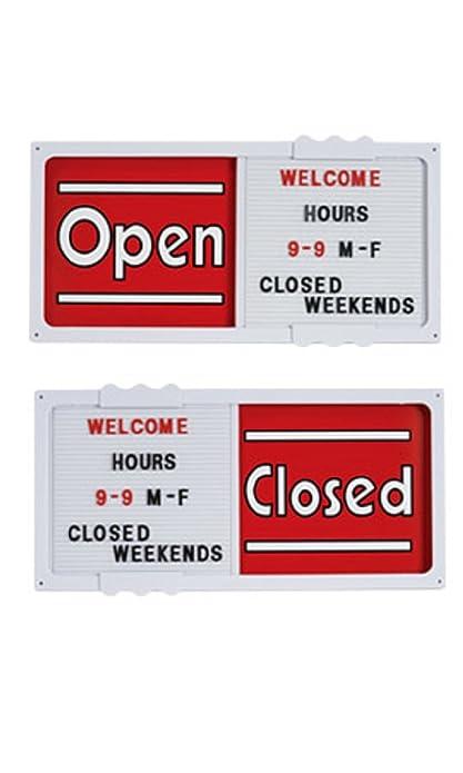 Cartel de color rojo horizontal deslizante abierto/cerrado ...