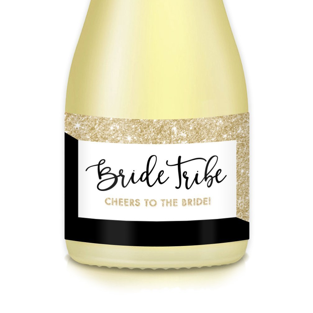 3.5 x 1.75 Stickers Engagement Party Boxes Gift Bags Bachelorette Brunch Bride Tribe Mini Champagne /& Wine Bottle Decals Set of 20 Wedding Guest Favors Bridal Shower Bridesmaid Maid of Honor