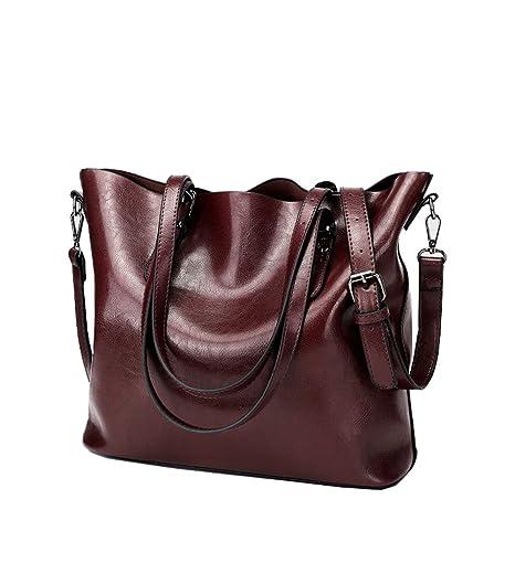 51e307c899f8 Ecokaki Women s Vintage Large PU Leather Travel Handbag Hobo Bag Shoulder  Bag Sling Bag Cross Body
