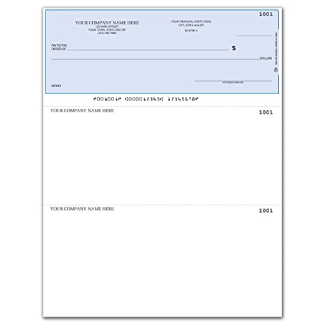 photo about Quickbooks Printable Checks known as CheckSimple Laser Organization Exams, Appropriate with QuickBooks/Quicken - Supreme Layout, Protected (100 Qty) - Custom made