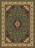 Luxury Silk Area Rugs Green Rug 5×8 Rug Silk Persian Isfahan Style 5×7 Living Room Rugs Bedroom Green Rug (Medium 5'x8′) For Sale