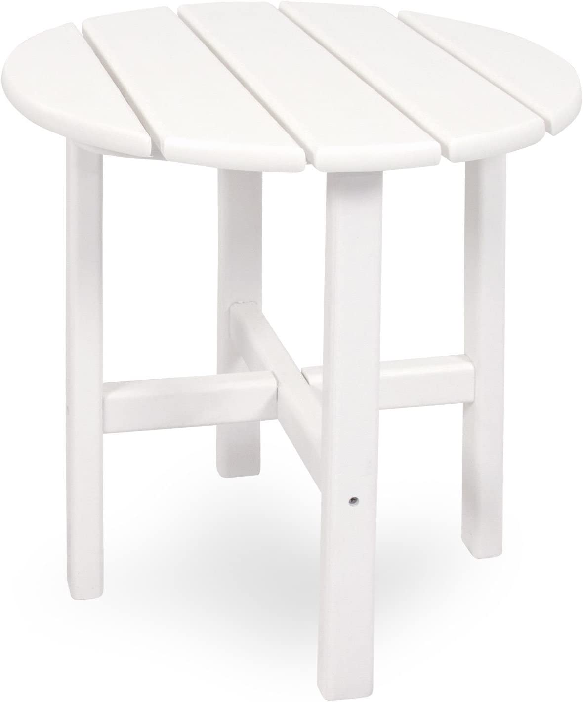 Ivy Terrace IVRT18WH Classics Round Side Table, 18-Inch, White
