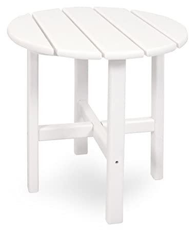 Ivy Terrace IVRT18WH Classics Round Side Table, 18 Inch, White